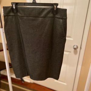 Express gray skirt